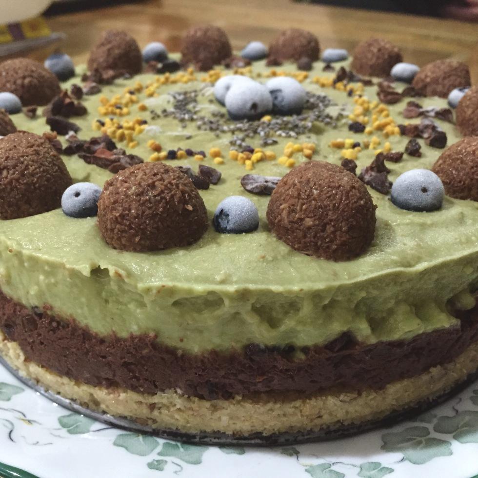 Salted Chocolate Avocado Cake Recipe
